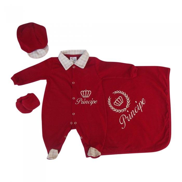Saída de Maternidade Príncipe Vermelho. Kit Saída Maternidade Príncipe  Vermelho 16b81c86417