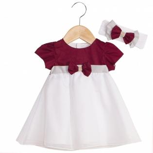 Vestido + Faixa de Cabelo Infantil Melissa Marsala a54da93d149