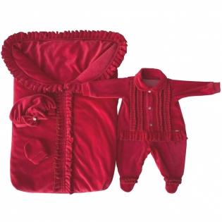 f011528865 Saída de Maternidade Bebê Feliz Carol Vermelha